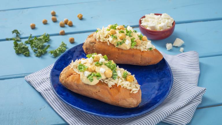 Power Rice-Stuffed Sweet Potato