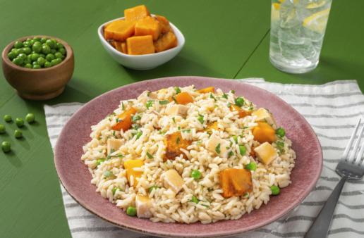 leftover-turkey-and-white-rice-dinner